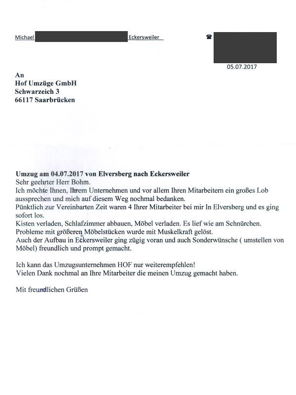 Referenzen – HOF Umzüge Saarbrücken | St. Ingbert